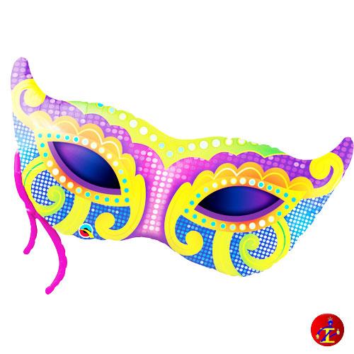 brillantezza del colore qualità affidabile abile design Palloncino mylar mascherina di carnevale 97cm