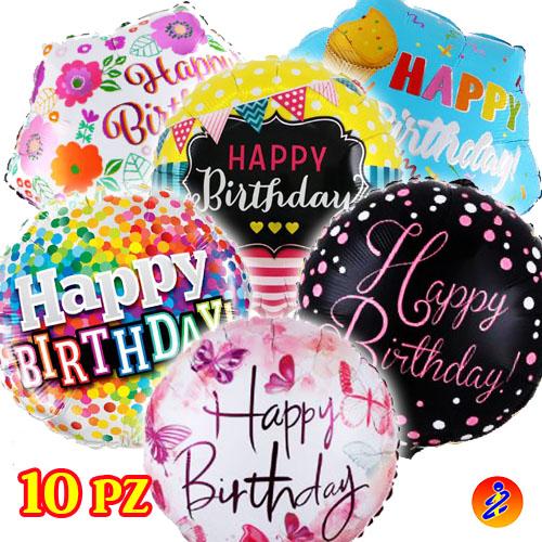 Palloncini a tema Happy birthday in offerta